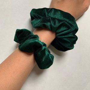 Retro Velvet Scrunchies Large and Medium